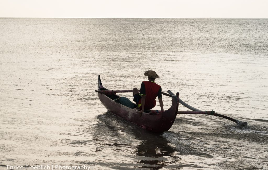 Beim Fischen in Jimbaran; Bali
